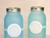 Faux Beach Glass Mason Jars