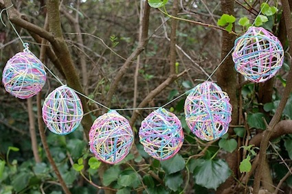 Yarn Egg Garland