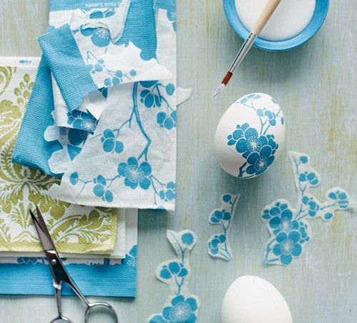 Martha Stewart decoupage eggs