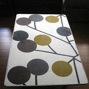 Mod Podge fabric coffee table