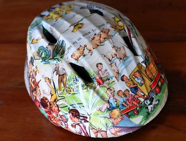 Mod Podge bike helmet