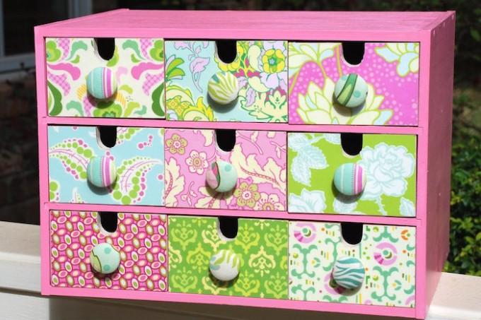Mod Podge drawer revamp