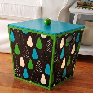 Fabric covered box with Mod Podge