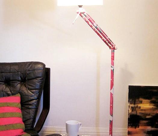 Mod Podge lamp revamp