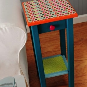 Decoupage furniture: colorful table make...