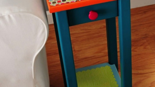 Colorful End Table Makeover Improves Your Room