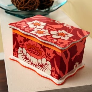 Fabric covered DIY jewelry box