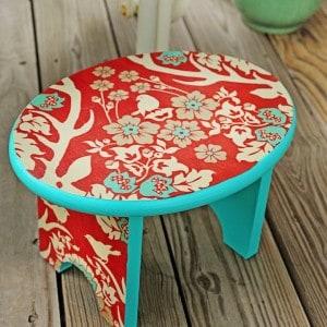 DIY step stool makeover with Mod Podge