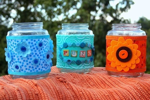 Recycled crafts decorating glass jars mod podge rocks for Crafts to make with glass jars