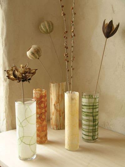 Mod Podge vases