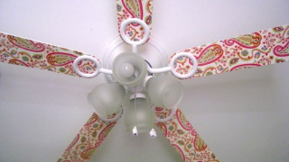 Decorate a Ceiling Fan with Mod Podge