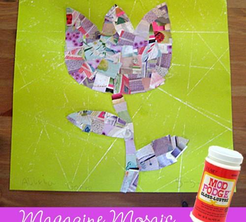 Mod Podge magazine mosaic