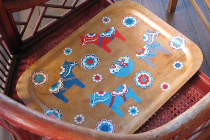 Dala horse tray