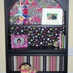 Mod Podge bookshelf back