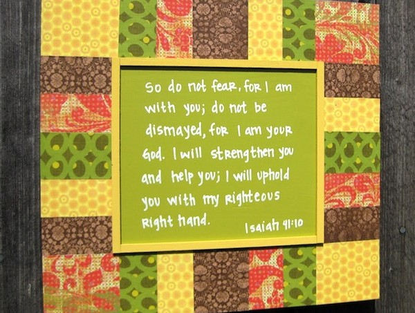 Mod Podge Bible verse DIY plaque