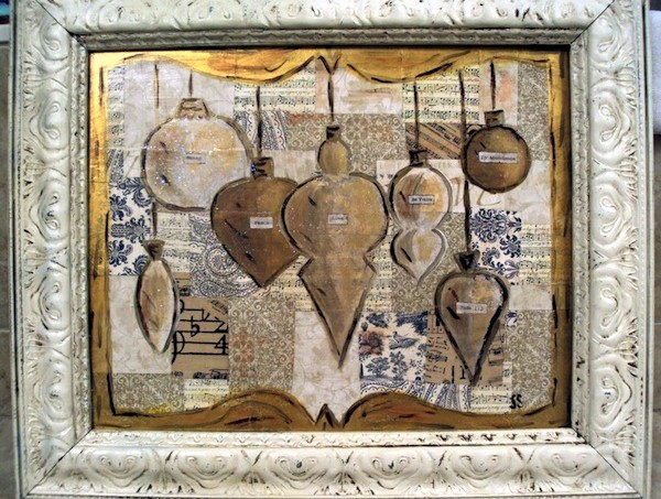 Mod Podge Christmas ornament art