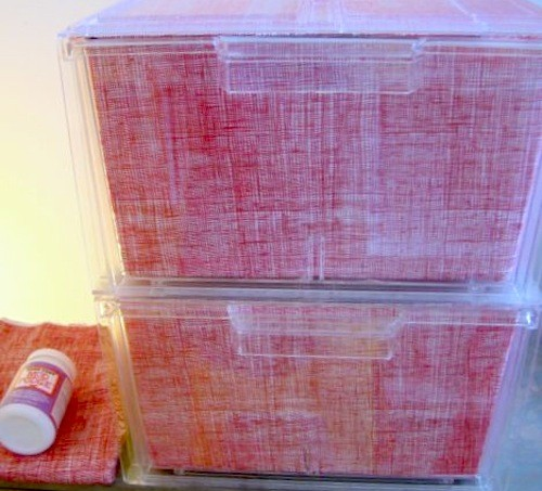 Mod Podge storage bins