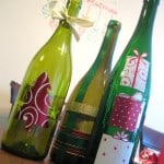 Wine bottle decor Christmas craft