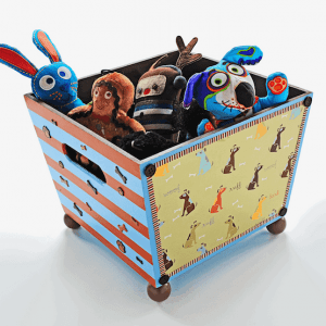 Decorate a Dog Toy Box with Craft Store Supplies