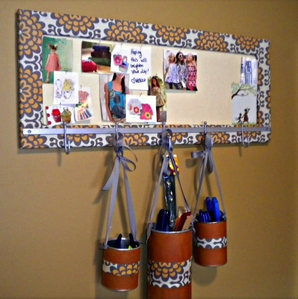 Mod Podge recycled idea board