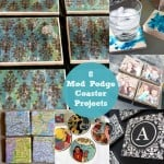 8 Mod Podge coasters - this is such a quick weekend craft!