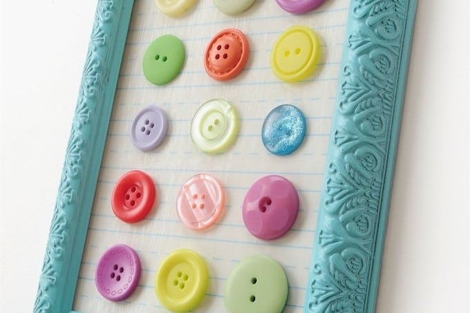 How to make button art on the cheap