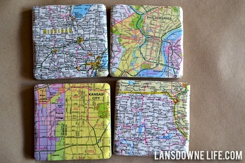 Tile map coasters