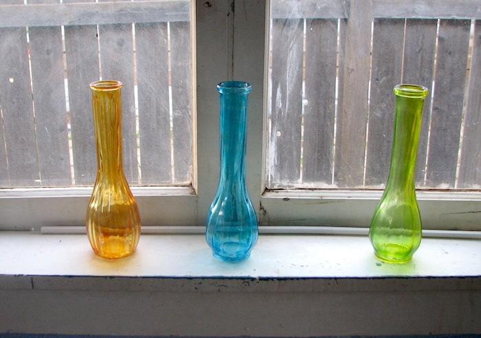 Mod Podge glass bottles