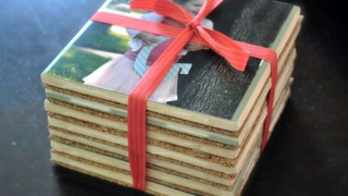 Personalized Mod Podge Coasters with Photos