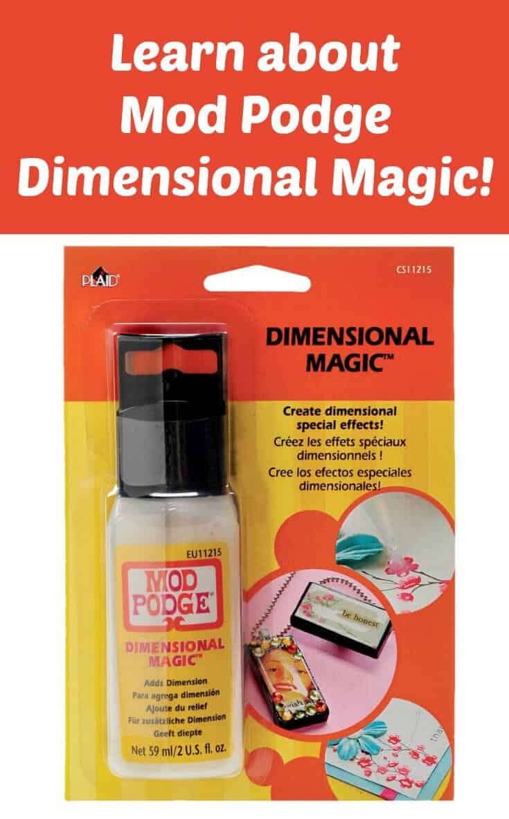 Questions & a Guide to Mod Podge Dimensional Magic