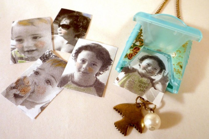 How to make a photo locket from an old mint container