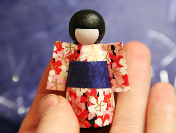 Mod Podge kimono doll