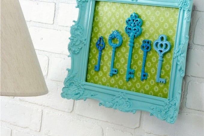 Refurbished key portrait - easy DIY wall art