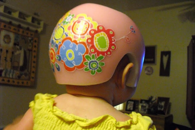 Decoupaged Baby Helmet
