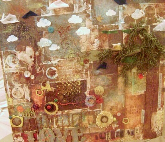 Mod Podge collage canvas