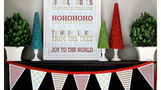 Free Printable Christmas Art for your Mantel