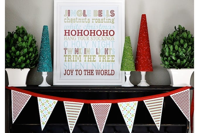 Christmas subway art and banner free printables