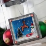 Holiday Shadowbox Ornament with Mini Action