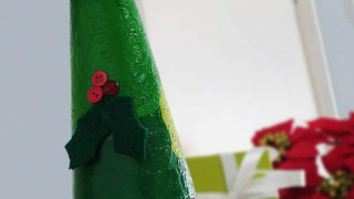 Decorate a Paper Mache Tree for Christmas