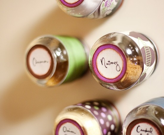DIY baby jar spice rack