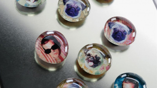Make Personalized Glass Photo Magnets on the Cheap!