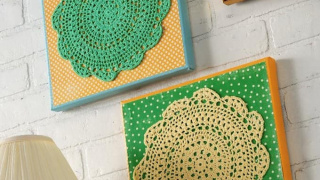 Make your Own Doily Wall Art the Easy Way