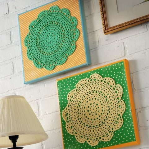 Doily Wall Art the Easy Way, On a Budget