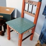 How to customize a wood kids' chair with your favorite paint and papers