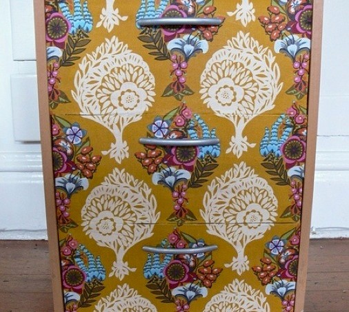 Mod Podge fabric IKEA drawers