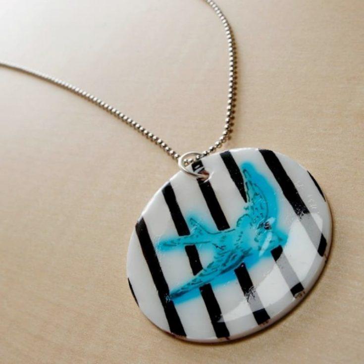 Shrinky Dink jewelry pendant necklace