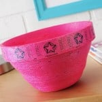 How to make a ticket bowl using Mod Podge