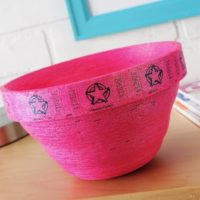 Carnival Ticket Bowl with Glitter