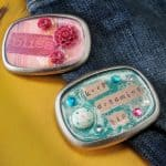 With paper and a little Dimensional Magic, you can have fun and fashionable DIY belt buckles to wear with your favorite pair of jeans.