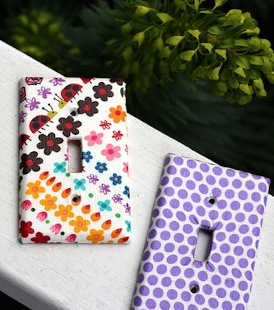Mod Podge fabric switchplates